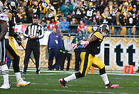 PITTSBURGH, PA - OCTOBER 30:  Mewelde Moore #21 of the Pittsburgh Steelers celebrates after scoring a touchdown against the New England Patriots during the game on October 30, 2011 at Heinz Field in Pittsburgh, Pennsylvania.  (Photo by Jared Wickerham/Getty Images)