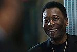 Brazilian soccer legend Pele visit the Empire State Building
