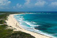 Few visitors make the trip to the virtually deserted beaches on the windswept east cost of Cozumel. Swimming is dangerous on most of the picturesque east coast beaches due to undertows and riptides.