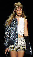 NEW YORK, NY-September 14: Gigi Hadid walk the runway rehearsal for  Anna Sui Fashion Show-2016 New York Fashion Week at the Arts Skylight of Moynihan Station in New York. September 14, 2016. Credit:RW/MediaPunch