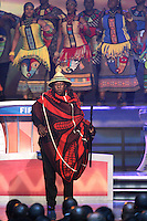 The Soweto Gospel Choir perform during the FIFA Final Draw for the FIFA World Cup 2010 South Africa held at the Cape Town International Convention Centre (CTICC) on December 4, 2009.
