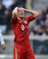 FUSSBALL   1. BUNDESLIGA  SAISON 2011/2012   31. Spieltag FC Bayern Muenchen - FSV Mainz 05       14.04.2012 Ivica Olic (FC Bayern Muenchen)