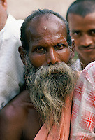 Indian man with traditional grey beard