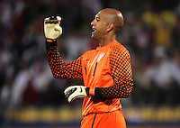 Man of the match USA goalkeeper Tim Howard. USA tied England 1-1 in the 2010 FIFA World Cup at Royal Bafokeng Stadium in Rustenburg, South Africa on June 12, 2010.
