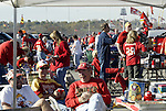 31 October 2004: Chiefs fans tailgating before the game. The Kansas City Chiefs defeated the Indianapolis Colts 45-35 at Arrowhead Stadium in Kansas City, MO in a regular season National Football League game..