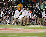 Ole Miss bench celebrates Ole Miss defensive back Cody Prewitt (25) interception vs. Texas A&amp;M at Vaught-Hemingway Stadium in Oxford, Miss. on Saturday, October 6, 2012. Texas A&amp;M rallied from a 27-17 4th quarter deficit to win 30-27.