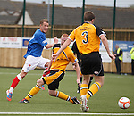 Dean Shiels lays off the ball