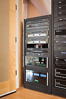 Home theater equipment rack