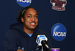 05 December 2009: Junior forward Jessica McDonald. The University of North Carolina Tar Heels held a press conference at the Aggie Soccer Complex in College Station, Texas on the day before playing the Stanford University Cardinal in the NCAA Division I Women's College Cup championship game.