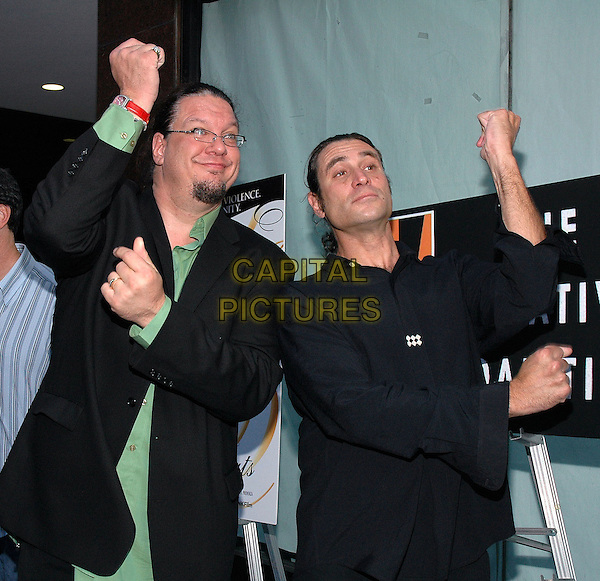 """26 July 2005 - New York, New York - Penn Jillette, and Paul Provenza arrive at the premiere of their new film, """"The Aristocrats"""", at The Directors Guild Theater in Manhattan.  .Photo Credit: Patti Ouderkirk/AdMedia"""