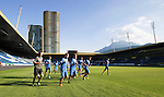 FC Luzern v St Johnstone...16.07.14  Europa League 2nd Round Qualifier<br /> The St Johnstone players pictured during training at the Swissporarena ahead of tomorrow's game against FC Luzern<br /> Picture by Graeme Hart.<br /> Copyright Perthshire Picture Agency<br /> Tel: 01738 623350  Mobile: 07990 594431