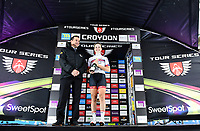 Picture by Alex Broadway/SWpix.com - 18/05/2017 - Cycling - Tour Series Round 5, Croydon - Matrix Fitness Grand Prix - Team Breeze's Ellie Dickinson, overall sprints leaders jersey.