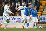 St Johnstone v Celtic...15.05.15   SPFL<br /> Michael O'Halloran gets past Adam Matthews<br /> Picture by Graeme Hart.<br /> Copyright Perthshire Picture Agency<br /> Tel: 01738 623350  Mobile: 07990 594431