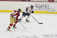 The Mens D2 Hockey team plays against Elon University in the Lahaye Ice Center on September 20, 2013. (Photo by James Hancock)