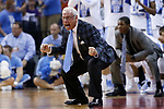 North Carolina Tar Heels head coach Roy Williams yells a command at his team against the Kentucky Wildcats during the 2017 NCAA Men's Basketball Tournament South Regional Elite 8 at FedExForum in Memphis, TN on Friday March 24, 2017. Photo by Michael Reaves | Staff