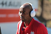 San Diego, CA - Sunday January 29, 2017: DaMarcus Beasley prior to an international friendly between the men's national teams of the United States (USA) and Serbia (SRB) at Qualcomm Stadium.