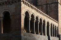 Portico, Iglesia de San Esteban (St Stephen's Church), 12th-13th centuries, Segovia, Castile and Leon, Spain. Late Romanesque sandstone church. Picture by Manuel Cohen