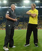 FUSSBALL   1. BUNDESLIGA   SAISON 2012/2013   1. SPIELTAG Borussia Dortmund - SV Werder Bremen                  24.08.2012      Trainer Thomas Schaaf (li, SV Werder Bremen) und Trainer Juergen Klopp (re Borussia Dortmund)