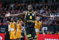Basketball  1. Bundesliga  2016/2017  Hauptrunde  16. Spieltag  27.12.2016 Walter Tigers Tuebingen - MHP Riesen Ludwigsburg JUBEL Ludwigsburg; Kelvin Martin