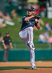 11 March 2016: Atlanta Braves pitcher Evan Rutckyj on the mound during a Spring Training pre-season game against the Philadelphia Phillies at Champion Stadium in the ESPN Wide World of Sports Complex in Kissimmee, Florida. The Phillies defeated the Braves 9-2 in Grapefruit League play. Mandatory Credit: Ed Wolfstein Photo *** RAW (NEF) Image File Available ***