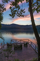 Volcano lakes at Ndali lodge, Uganda, Africa