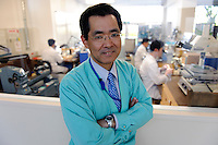 Manager of the Micro Artist Studio, Osamu Takahashi, Seiko Epson, Shiojiri, Japan, May 18, 2009.In the workshop Seiko-Epson make a range of luxury watches, including the Sonnerie.