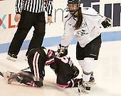 Paige Savage (NU - 28), Maggie Pendleton (PC - 2) - The Northeastern University Huskies defeated the visiting Providence College Friars 8-7 on Sunday, January 20, 2013, at Matthews Arena in Boston, Massachusetts.