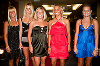 """COOLANGATTA, Australia (Thursday, February 26, 2009) - The Women's surfing tour 2009 Rookies (left to right) PAIGE HAREB (NZ), ALANA BLANCHARD (HAW), COCO HO (HAW), SALLY FITZGIBBONS (AUS) and BRUNA SCHMITZ (BRA) at the  ASP World Champions' Crowning took place tonight at the Gold Coast Convention and Exhibition Centre beginning at 6:30pm.. .Surfing's """"night of nights"""", the ASP World Champions' Crowning, was a gala event, hosting the world's best surfers as well as distinguished figures from the surfing industry in honor of the 2008 ASP World Champions.. .Kelly Slater (USA), 36, reigning and nine-time ASP World Champion, accepted his unprecedented ninth ASP World Title award just days before beginning his hunt for an incredible 10th Crown at the upcoming Quiksilver Pro Gold Coast presented by LG Mobile.. .Stephanie Gilmore (AUS), 21, reigning two-time ASP Women's World Champion, received her second consecutive ASP Women's World Title cup, and the young natural-footer will soon embark on a campaign to make it a three-peat in 2009. Gilmore will begin this weekend at the opening event of the 2009 ASP Women's World Tour season, the Roxy Pro Gold Coast presented by LG Mobile.. .Other ASP Dream Tour athletes  recognized were respective Runner-Ups Bede Durbidge (AUS), 25, and Silvana Lima (BRA), 24, as well as Rookies of the Year Dane Reynolds (USA), 23, and Nicola Atherton (AUS), 22.. .Bonga Perkins (HAW), 36, and Joy Monahan (HAW), 22, took out the ASP World Longboarding and ASP Women's World Longboarding Titles respectively, while Nathaniel Curran (USA), 24, and Sally Fitzgibbons (AUS), 18, took home hardware for their respective No. 1 finishes on the ASP World Qualifying Series last season.. .In addition to honoring the champions from 2008, the ASP World Champions' Crowning also recognized athletes who  earnt the 2008 ASP World Tour 'Most Improved',  a tie between Adrian Buchan (AUS) and Adrian de Souz (BRA) the 2008 ASP Women's World Tour 'Most Improved',Melanie Barte"""