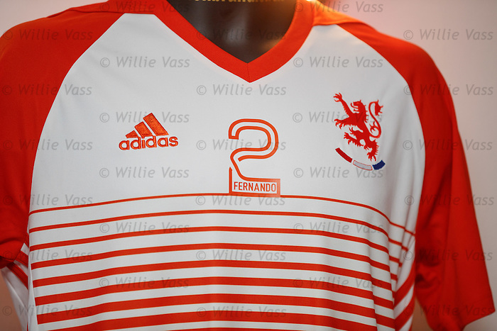The Lionbrand players strips for the Fernando Ricksen Rangers Legends v England Select benefit match are revealed. The match in Fleetwood on March 25th will raise funds for Moror Neurone research