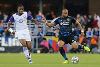 San Jose, CA - Wednesday May 17, 2017: Victor Bernardez during a Major League Soccer (MLS) match between the San Jose Earthquakes and Orlando City SC at Avaya Stadium.