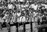 Locals attending traditional welcome ceremony for honoured guests in Honiara, Solomon Islands, South Pacific