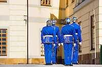 Sweden, Ekerö. The Drottningholm Palace (Drottningholms slott). Royal Guards.