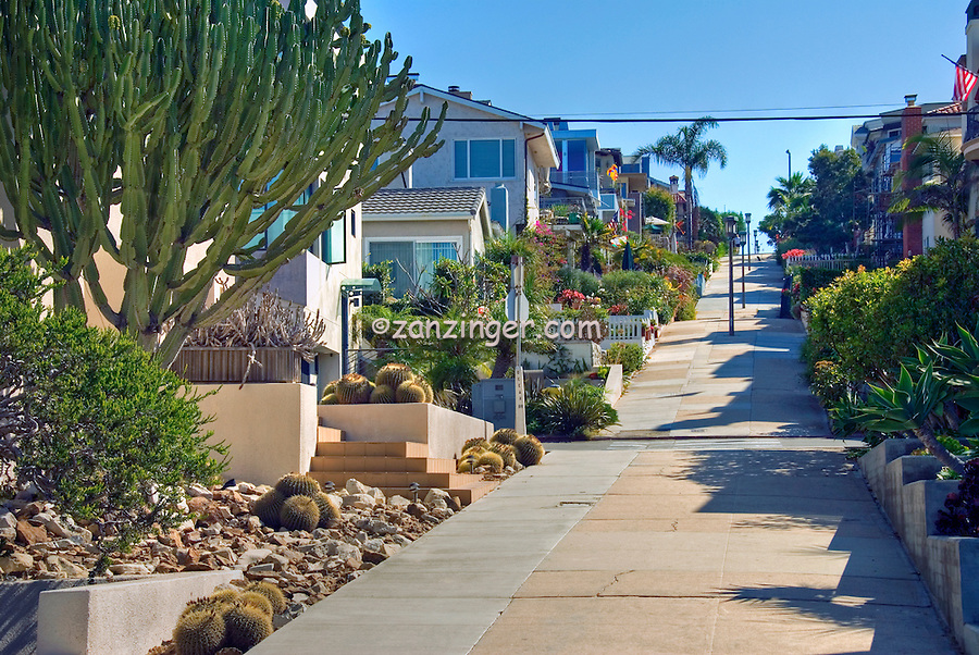 Manhattan Beach CA, Walk Street, Hill, southwestern, Los Angeles County, Santa Monica Bay, , quaint, alleyways, and, walk, streets, of the, Sand Section,