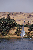 Afrique/Egypte/Env d'Assouan: Felouque sur le Nil