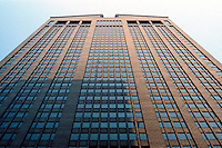 Philip Johnson: AT&T Building--looking up.  Photo '88.