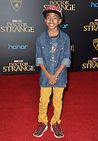 LOS ANGELES, CA. October 20, 2016: Miles Brown at the world premiere of Marvel Studios' &quot;Doctor Strange&quot; at the El Capitan Theatre, Hollywood.<br /> Picture: Paul Smith/Featureflash/SilverHub 0208 004 5359/ 07711 972644 Editors@silverhubmedia.com