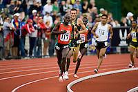 EUGENE, OR--Bernard Kiptum races in the men's 2 mile at the Steve Prefontaine Classic, Hayward Field, Eugene, OR. SUNDAY, JUNE 10, 2007. PHOTO © 2007 DON FERIA