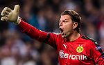 Goalkeeper Roman Weidenfeller of Borussia Dortmund reacts during the 2016-17 UEFA Champions League match between Real Madrid and Borussia Dortmund at the Santiago Bernabeu Stadium on 07 December 2016 in Madrid, Spain. Photo by Diego Gonzalez Souto / Power Sport Images