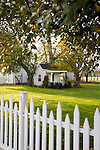 Historic Oregon City home, the White Kellogg House, an 1845 classic revival home set on 8 acres of farmland.