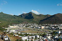 Mauritius. A view over the Champ de Mars Racecourse of Port Louis from Fort Adelaide (La Citadelle).