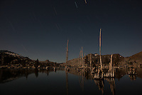 """Lake Aloha at Night"" - A long exposure photograph lit by the moon of Lake Aloha in the Tahoe Desolation Wilderness."