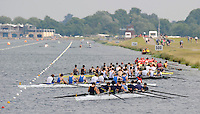 Eton,  GREAT BRITAIN. General Views of the Eton Course  at the Eton Schools' Regatta, Eton Rowing Centre, Dorney Lake. [Finish of cancelled National Schools Regatta], Saturday, 07/06/2008  [Mandatory Credit:  Peter SPURRIER / Intersport Images]. Rowing Courses, Dorney Lake, Eton. ENGLAND