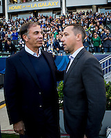 Carson, CA. - April 10, 2016: The LA Galaxy and the Portland Timbers played to a 1-1 draw in a Major League Soccer (MLS ) Western Conference game at StubHub Center.