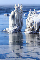 &quot;Icy Sea Stack at Tettegouche State Park&quot;<br />