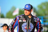May 4, 2012; Commerce, GA, USA: NHRA funny car driver Robert Hight during qualifying for the Southern Nationals at Atlanta Dragway. Mandatory Credit: Mark J. Rebilas-