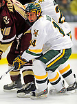 9 January 2009: University of Vermont Catamounts' forward Brian Roloff, a Junior from West Seneca, NY, in action during the first game of a weekend series against the Boston College Eagles at Gutterson Fieldhouse in Burlington, Vermont. The Catamounts scored with one second remaining in regulation time to earn a 3-3 tie with the visiting Eagles. Mandatory Photo Credit: Ed Wolfstein Photo