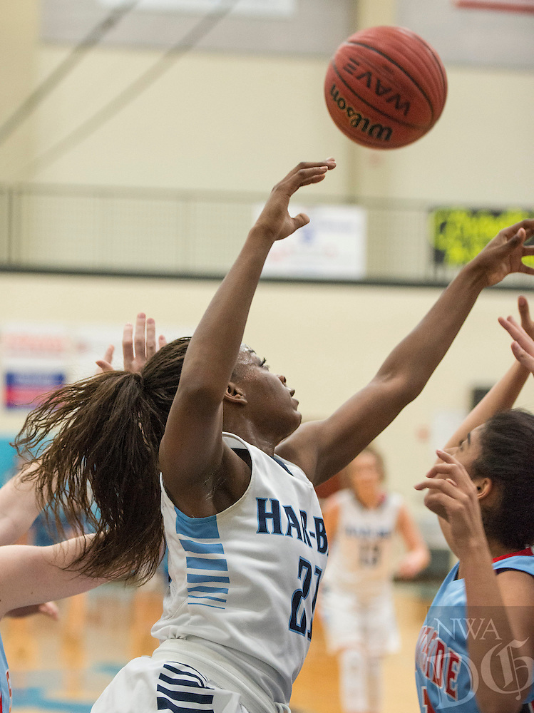 NWA Democrat-Gazette/ANTHONY REYES &bull; @NWATONYR<br /> Springdale Har-Ber against Fort Smith Southside Friday, Feb. 19, 2016 at Wildcat Arean in Springdale. The Lady Wildcats won 68-39.