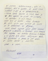 Letter from Edison Pena..Edison Pena was the 12th miner to be freed from the San Jose mine in Chile where 33 miners were trapped for 69 days. He was the first to return home from hospital.
