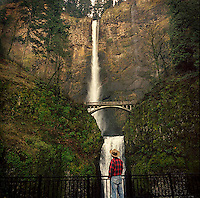 Multnomah Falls in the Columbia Gorge Nat'l Scenic Area near Portland Oreogn