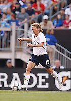 22 MAY 2010:  USA's Kristine Lilly #13 during the International Friendly soccer match between Germany WNT vs USA WNT at Cleveland Browns Stadium in Cleveland, Ohio. USA defeated Germany 4-0 on May 22, 2010.